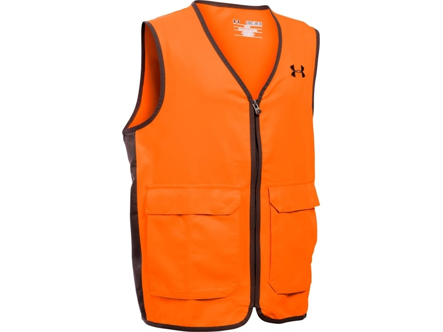 Under Armour Boy's UA Antler Logo Safety Vest Blaze Orange Polyester Blaze Orange