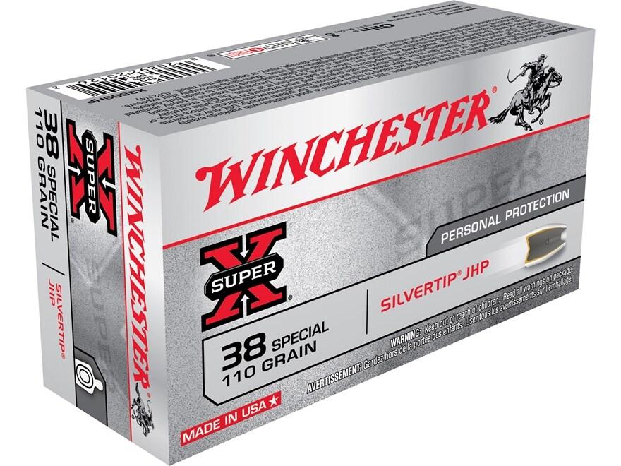 Winchester Super-X Ammunition 38 Special 110 Grain Silvertip Hollow Point