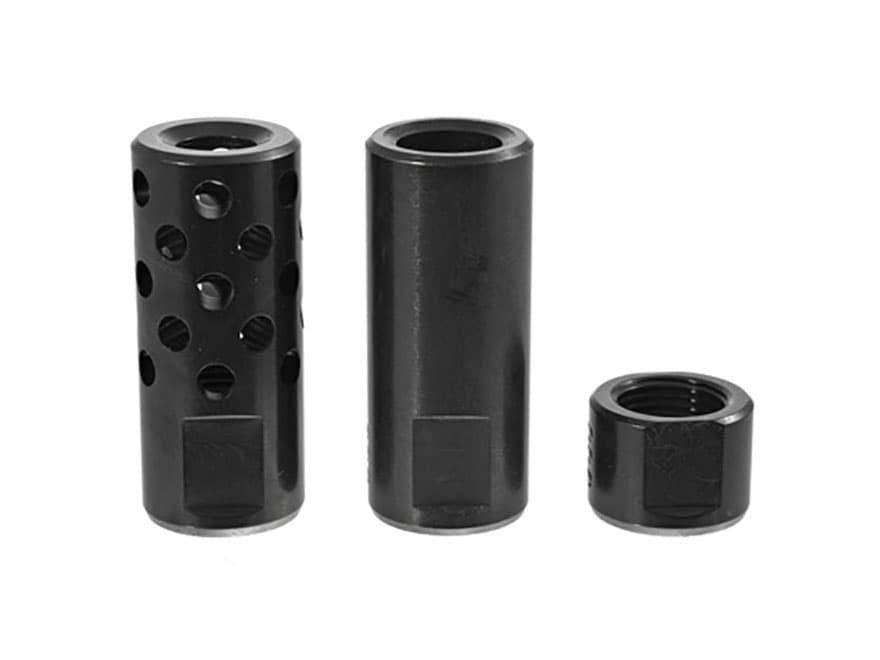 """Ruger Muzzle Brake System 30 Caliber Ruger M77 1/2"""" -24 Threads Steel Blue"""