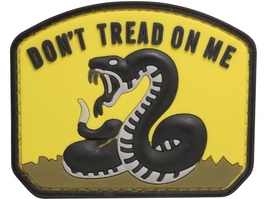 """5ive Star Gear Don't Tread On Me PVC Morale Patch Yellow and Black 2.5"""" x 2"""""""