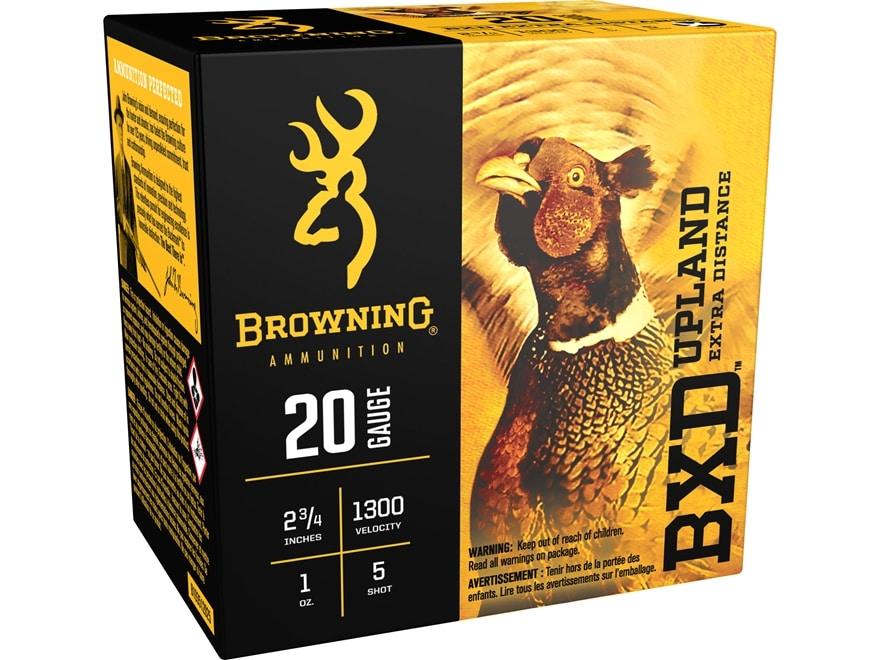 """Browning BXD Upland Ammunition 20 Gauge 2-3/4"""" 1 oz #5 Shot"""
