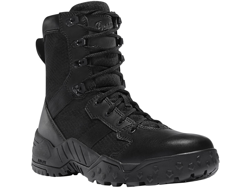"Danner Scorch 8"" Side-Zip Tactical Boots Leather/Nylon Black Men's"