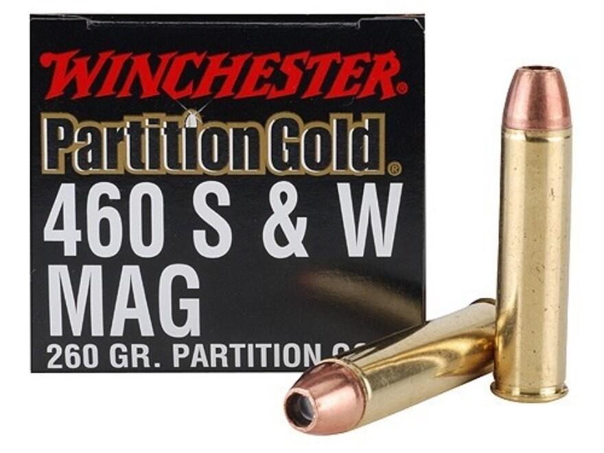 Winchester Supreme Gold Ammunition 460 S&W Magnum 260 Grain Nosler Partition Gold