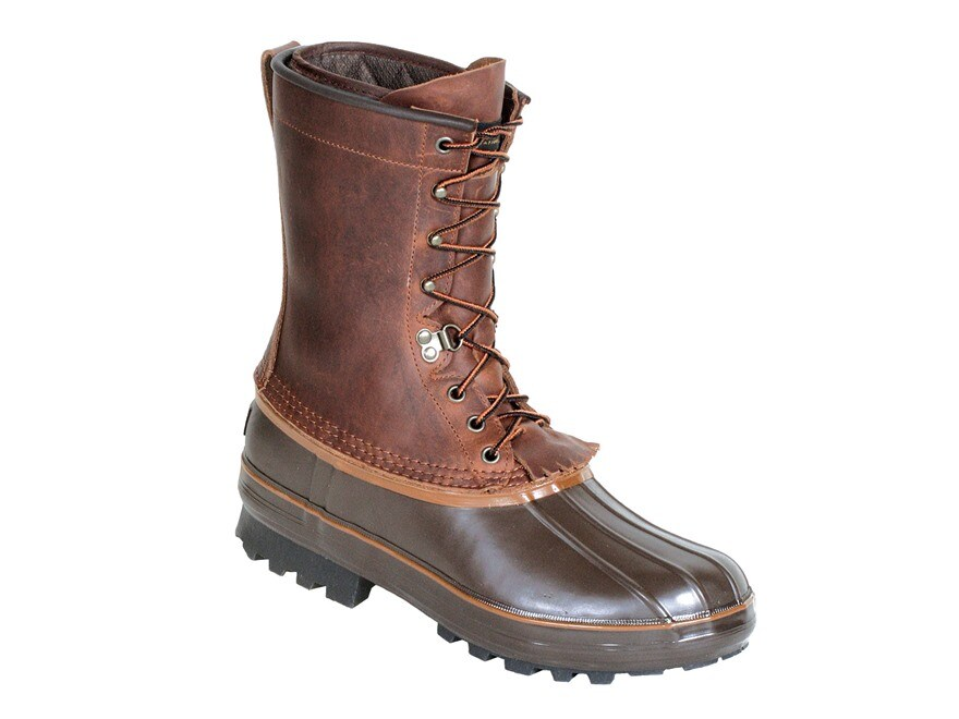 """Kenetrek Grizzly 10"""" Waterproof 400 Gram Insulated Pac Boots Leather and Rubber Brown M..."""