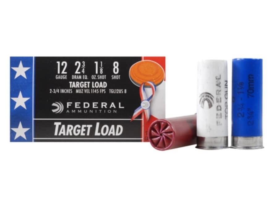 "Federal Top Gun Wounded Warrior Ammunition 12 Gauge 2-3/4"" 1-1/8 oz #8 Shot"