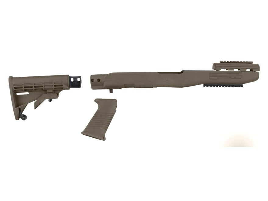 TAPCO Intrafuse Collapsible Rifle Collapsible Stock System with Rail SKS Synthetic Flat...