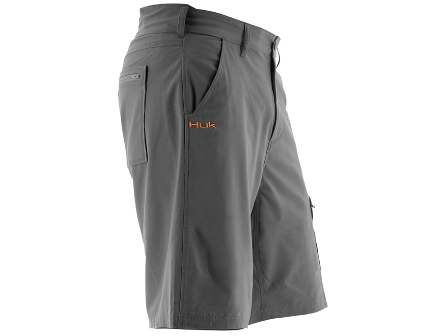 """Huk Men's Next Level Shorts 21.5"""" Outseam Cotton Polyester and Spandex"""