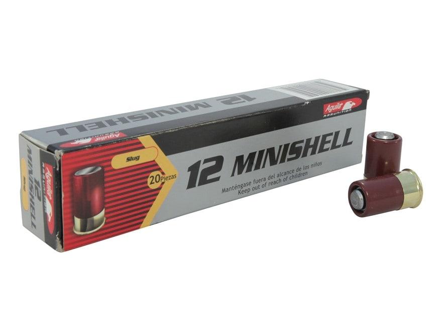 """Aguila Minishell Ammunition 12 Gauge 1-3/4"""" 7/8 oz Rifled Slug"""