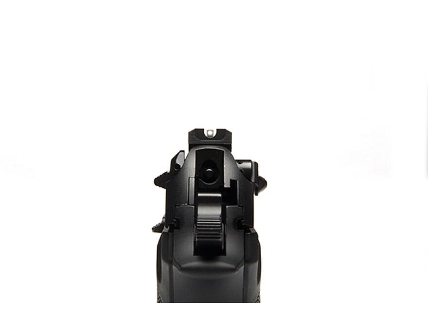 """Wilson Combat Battlesight Rear Sight Serrated Blade Beretta 92FS, 96FS .300"""" Steel Black"""
