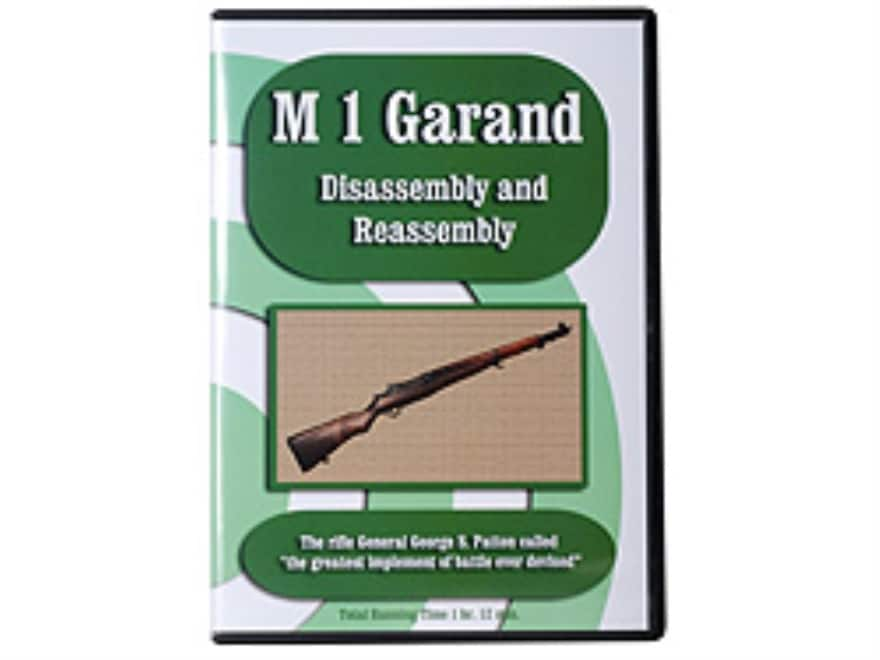 """""""M1 Garand Disassembly & Reassembly"""" DVD"""