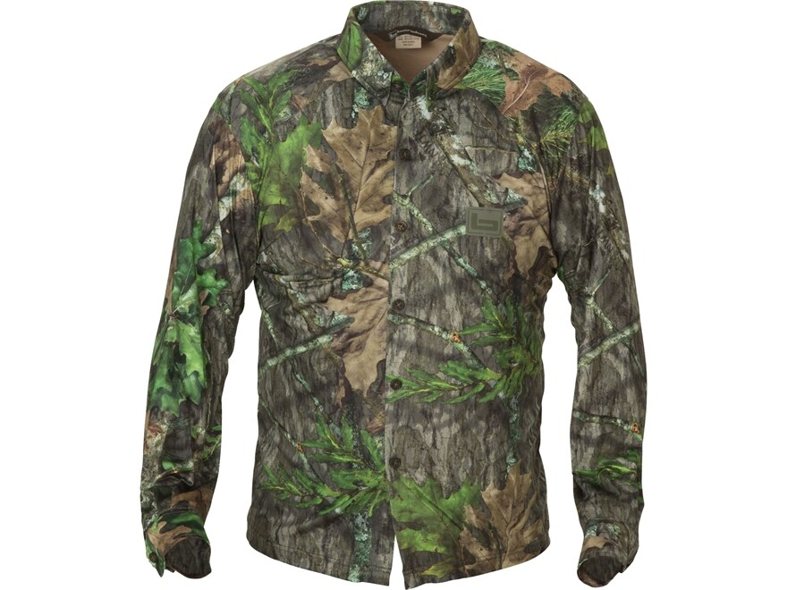 Banded Men's Tech Stalker Button-Up Shirt Long Sleeve Polyester