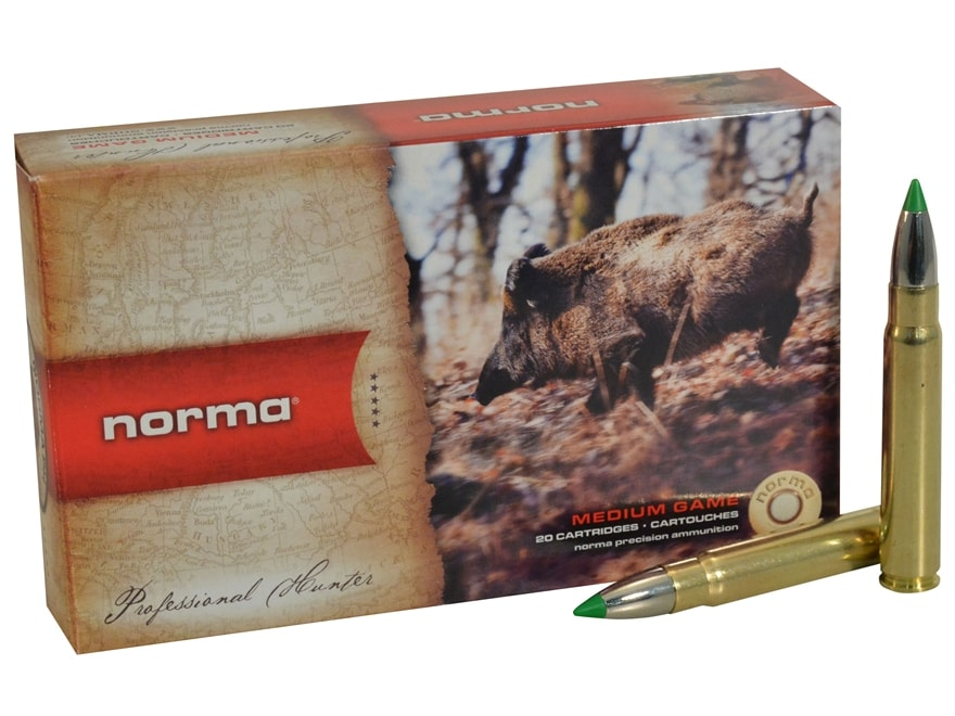 Norma USA American PH Ecostrike Ammunition 9.3x62mm Mauser 225 Grain Tipped Boat Tail L...