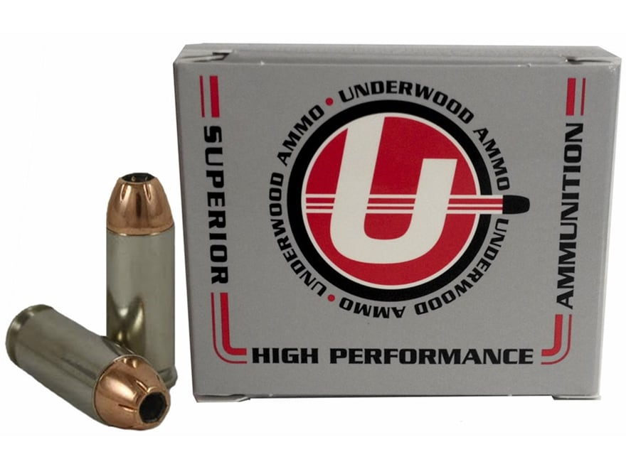 Underwood Ammunition 10mm Auto 155 Grain Hornady XTP Jacketed Hollow Point Box of 20