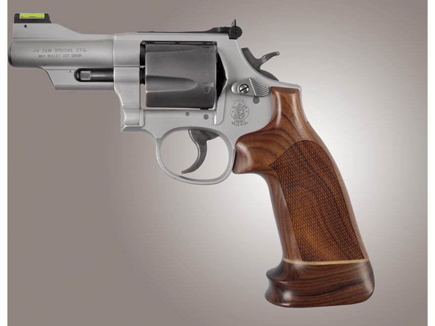 Hogue Fancy Hardwood Conversion Grips with Accent Stripe S&W K, L-Frame Round to Square...