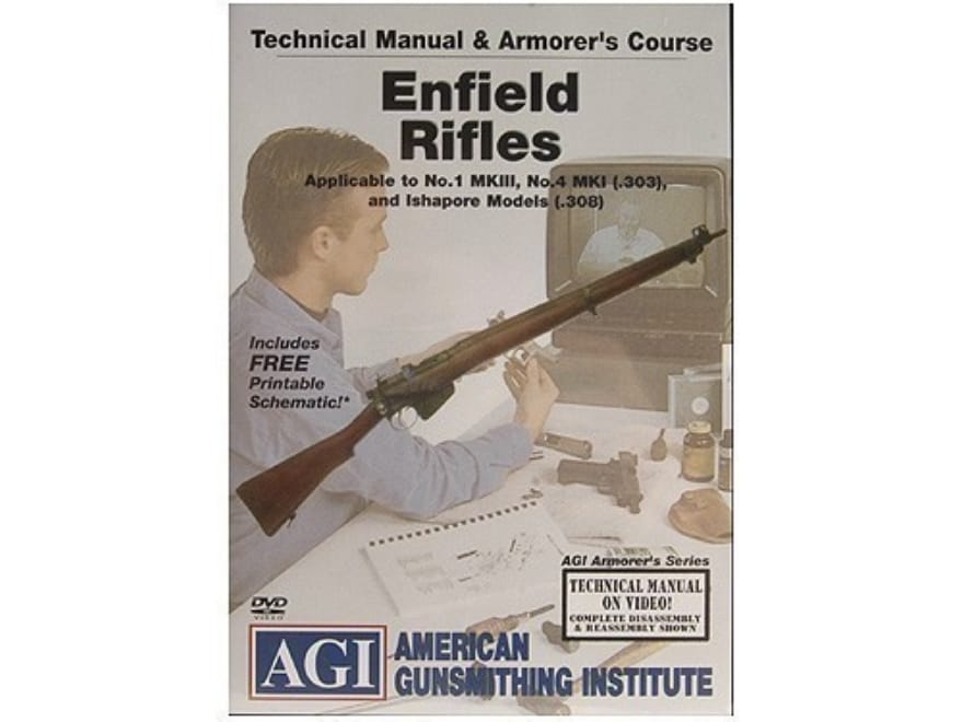 """American Gunsmithing Institute (AGI) Technical Manual & Armorer's Course Video """"Enfield..."""