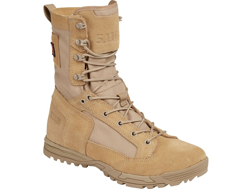 """5.11 Skyweight 8"""" Tactical Boots Leather and Nylon Coyote Men's"""