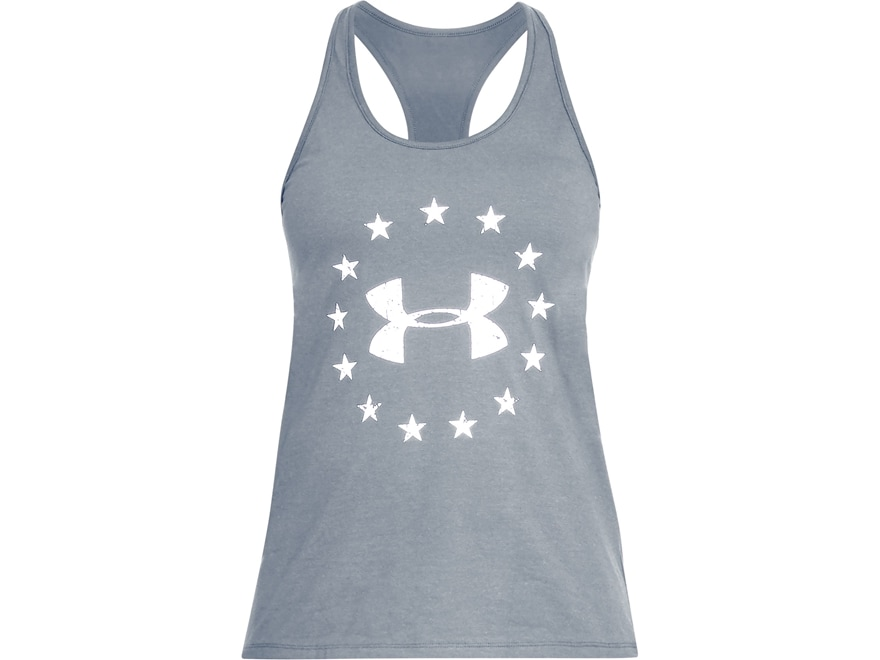 Under Armour Women's UA Freedom Logo Tank Top Charged Cotton