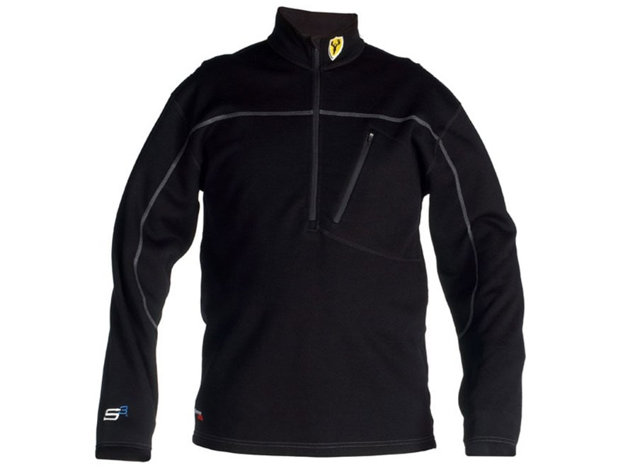 ScentBlocker Men's Expedition 1/4 Zip Base Layer Shirt Merino Wool