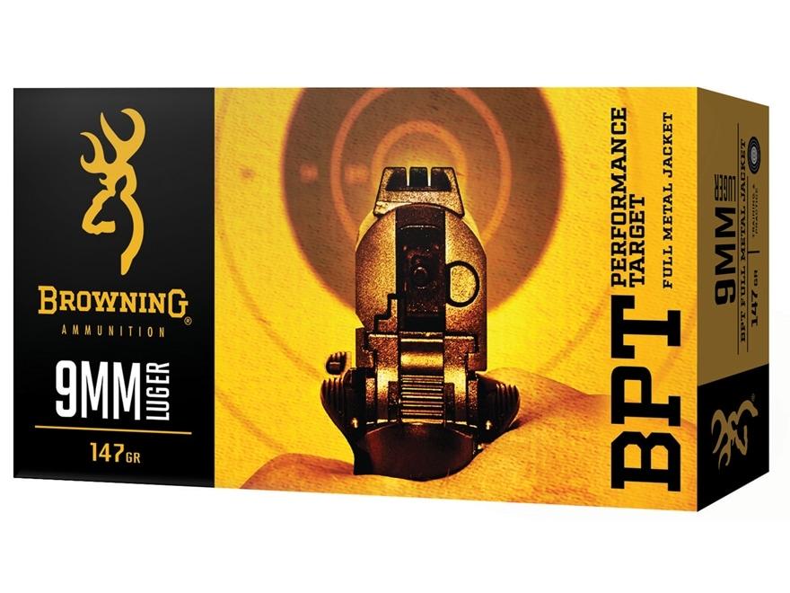 Browning BPT Ammunition 9mm Luger 147 Grain Full Metal Jacket
