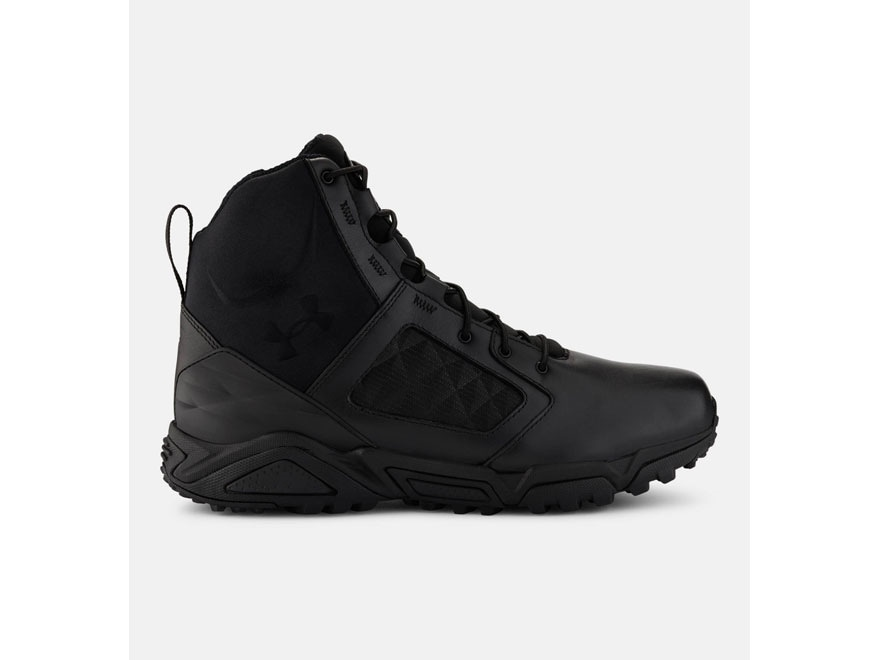 "Under Armour UA Tac Zip 2.0 7"" Waterproof Tactical Boots Synthetic/Leather Black Men's"