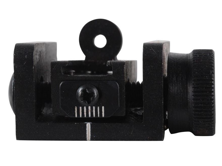Kensight Adjustable Rear Sight Assembly M1 Carbine Steel Matte with Peep Aperture