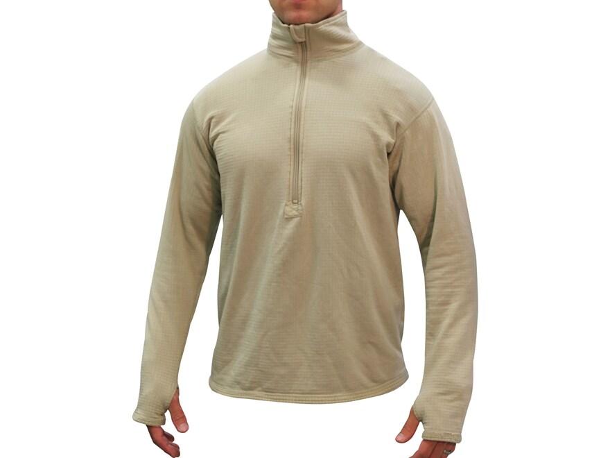 Military Surplus ECWCS Gen III Waffle Grid Base Layer 1/4 Zip Shirt