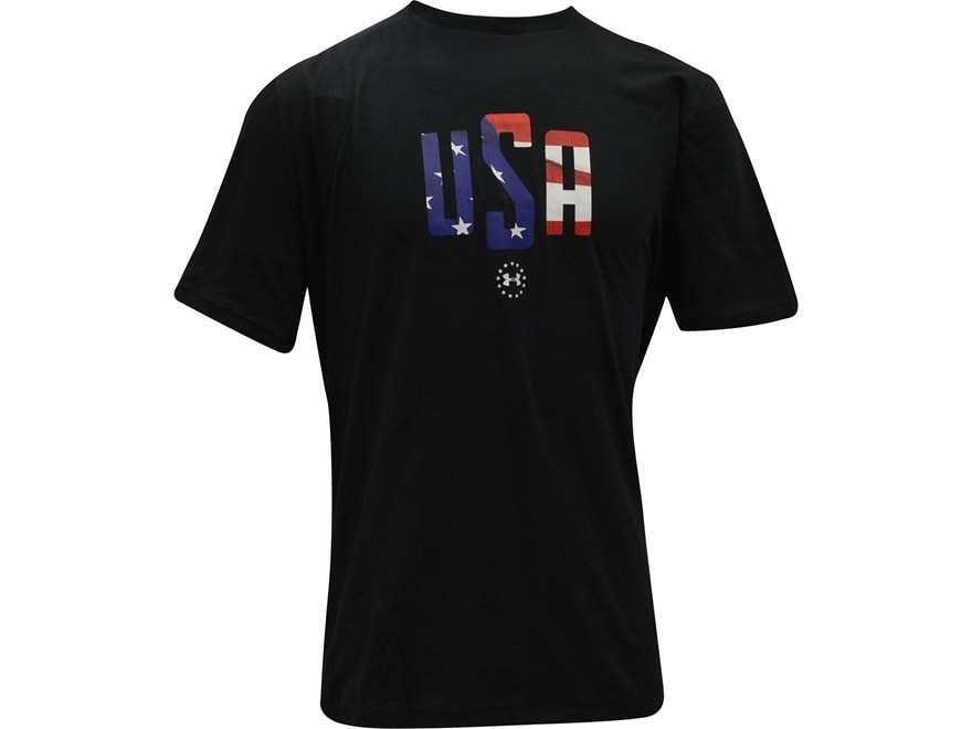 Under Armour Men's UA USA Mono T-Shirt Short Sleeve Charged Cotton