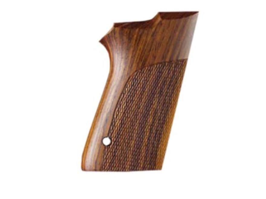 Hogue Fancy Hardwood Grips S&W 6906 9mm, 40 S&W Double Stack Checkered
