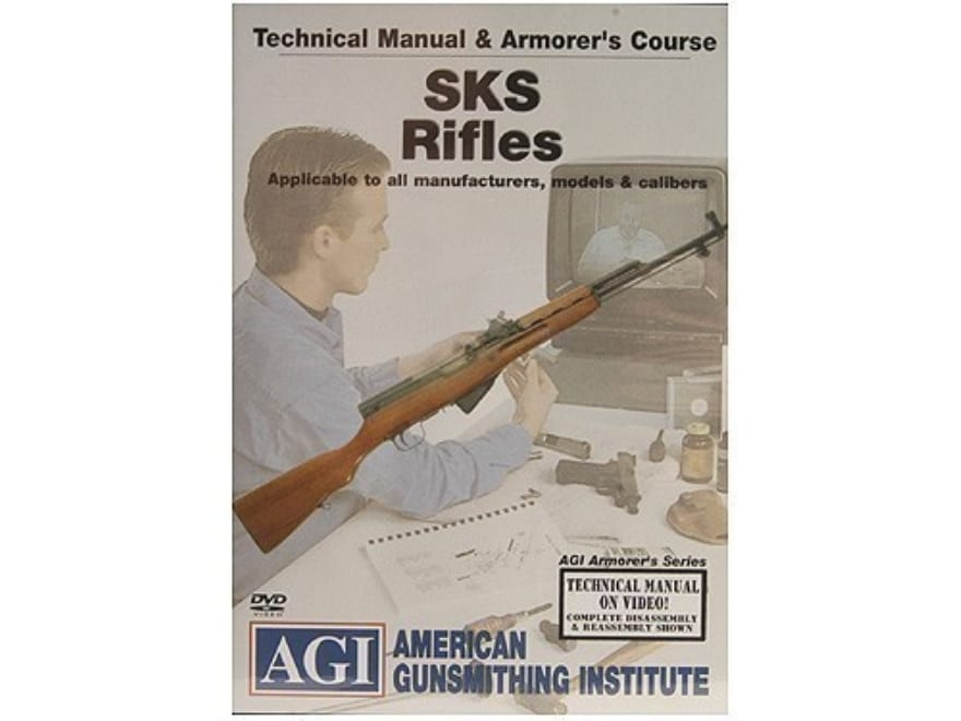 "American Gunsmithing Institute (AGI) Technical Manual & Armorer's Course Video ""SKS Rif..."