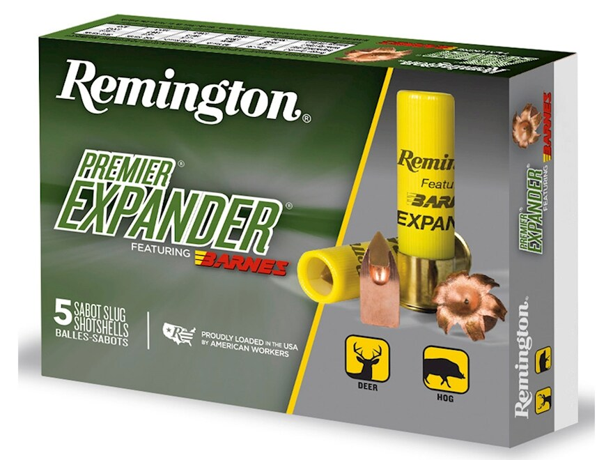 "Remington Premier Expander Slug Ammunition 20 Gauge 3"" 250 Grain Barnes Polymer Tipped ..."