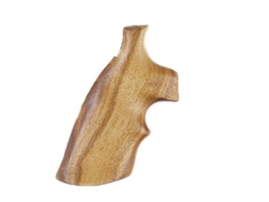 Hogue Fancy Hardwood Grips with Top Finger Groove Colt Python