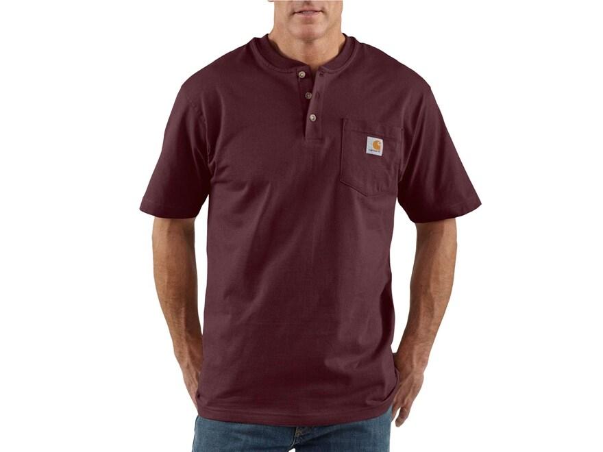 Carhartt Men's Workwear Pocket Henley T-Shirt Short Sleeve Cotton