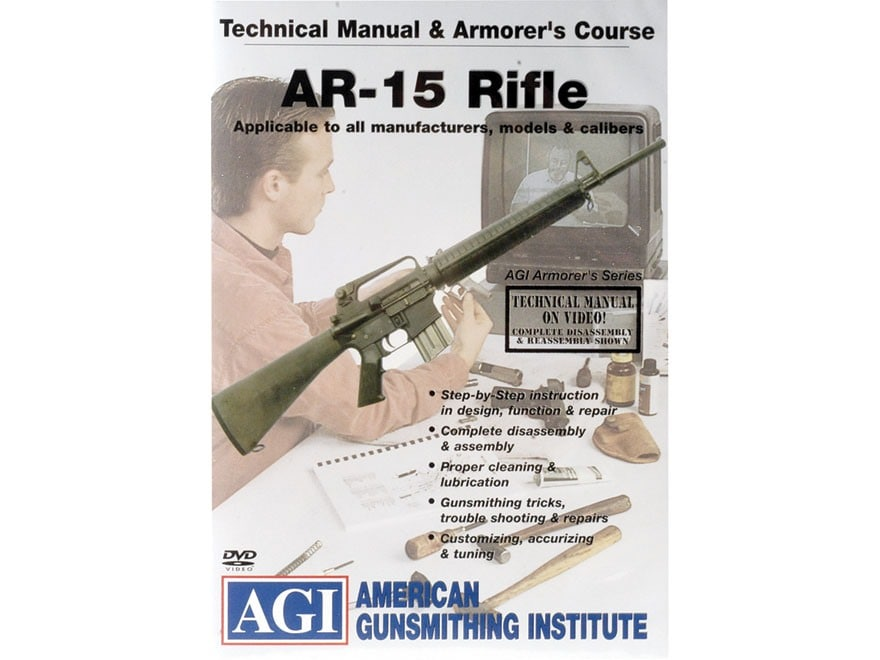 "American Gunsmithing Institute (AGI) Technical Manual & Armorer's Course Video ""AR-15 R..."