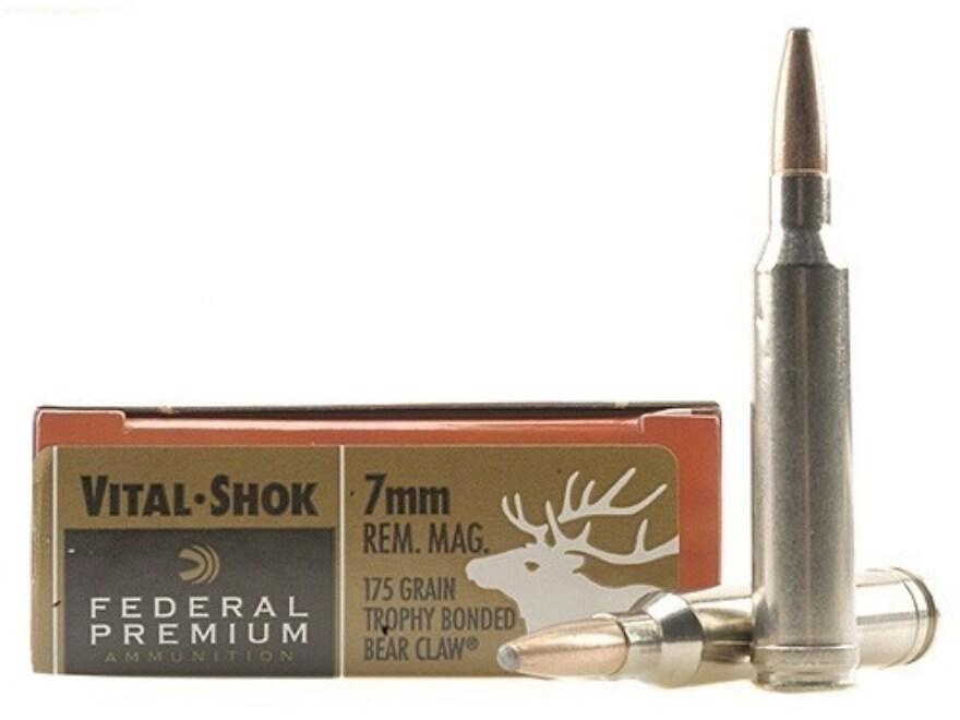 Federal Premium Vital-Shok Ammunition 7mm Remington Magnum 175 Grain Trophy Bonded Bear...