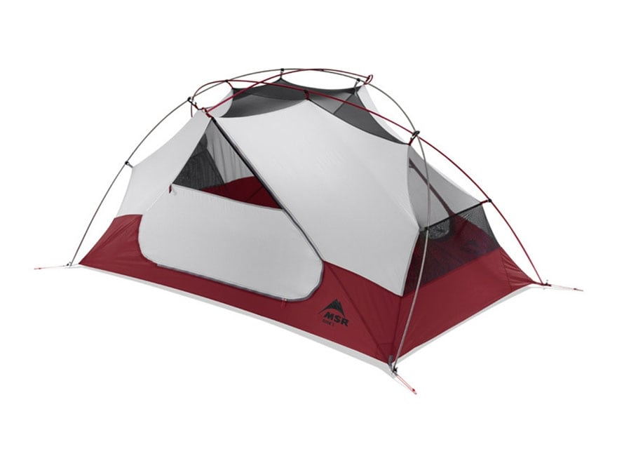 """MSR Elixir 2 Man Modified Dome Tent 84"""" x 50"""" x 40"""" Polyester Red and White"""