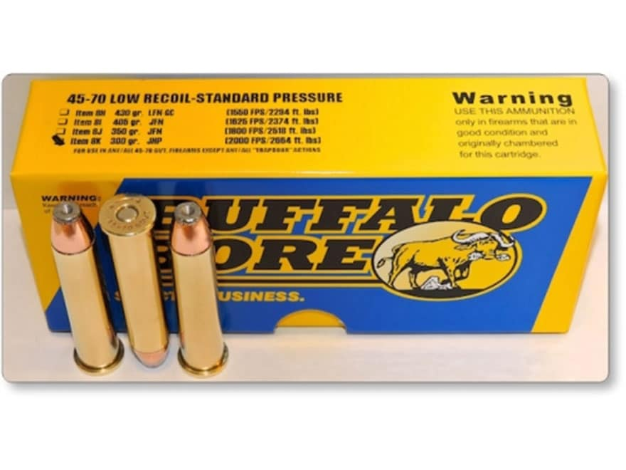 Buffalo Bore Ammunition 45-70 Government 300 Grain Jacketed Hollow Point Low Recoil Sta...