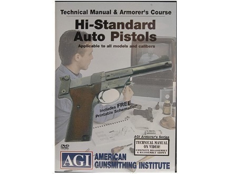 """American Gunsmithing Institute (AGI) Technical Manual & Armorer's Course Video """"High St..."""
