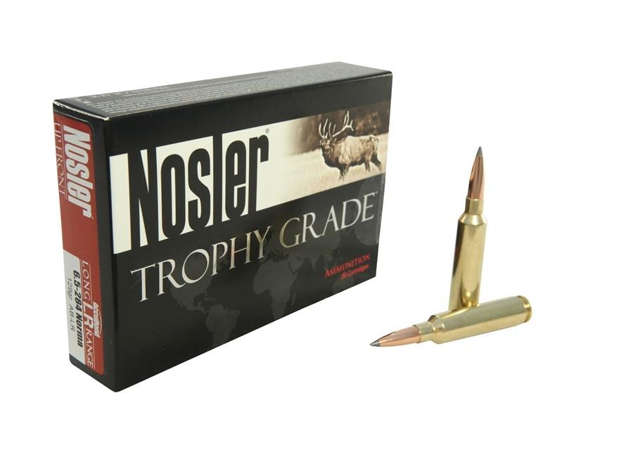 Nosler Trophy Grade Ammunition 6.5mm-284 Norma 129 Grain AccuBond Long Range Box of 20