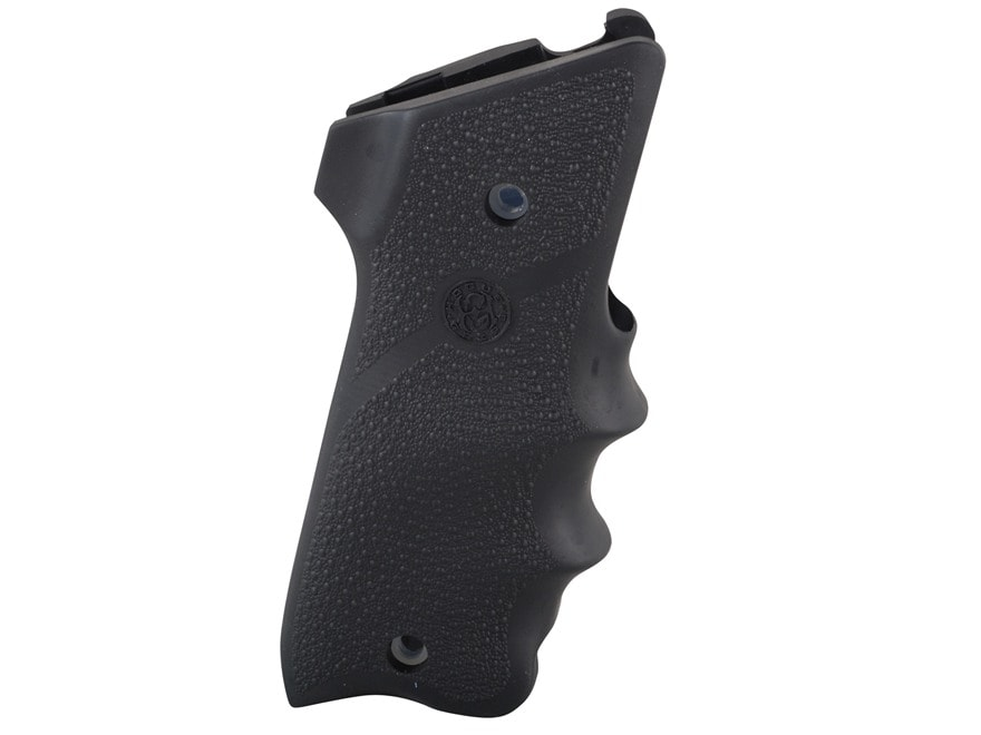 Hogue Wraparound Rubber Grips with Finger Grooves Ruger Mark II Thumbrest Black