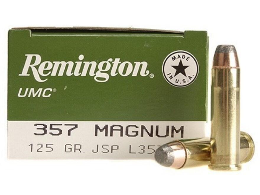Remington UMC Ammunition 357 Magnum 125 Grain Jacketed Soft Point Box of 50