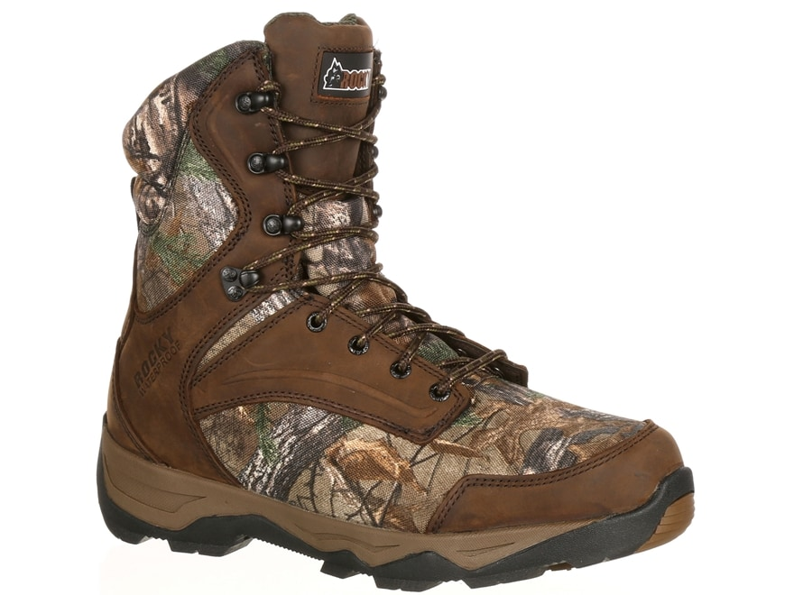 "Rocky Retraction 8"" Waterproof 800 Gram Insulated Hunting Boots Leather/Nylon Men's"