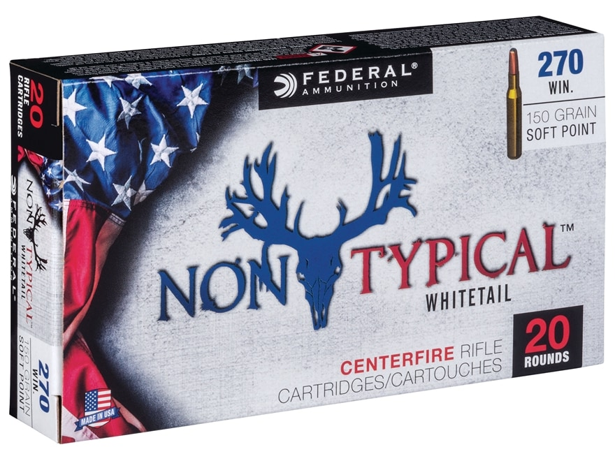 Federal Non-Typical Ammunition 270 Winchester 150 Grain Soft Point Box of 20