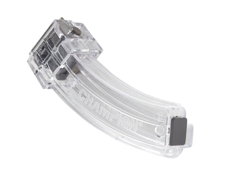 Champion Magazine with Metal Feed Lips Ruger 10/22 22 Long Rifle 30-Round Polymer Clear