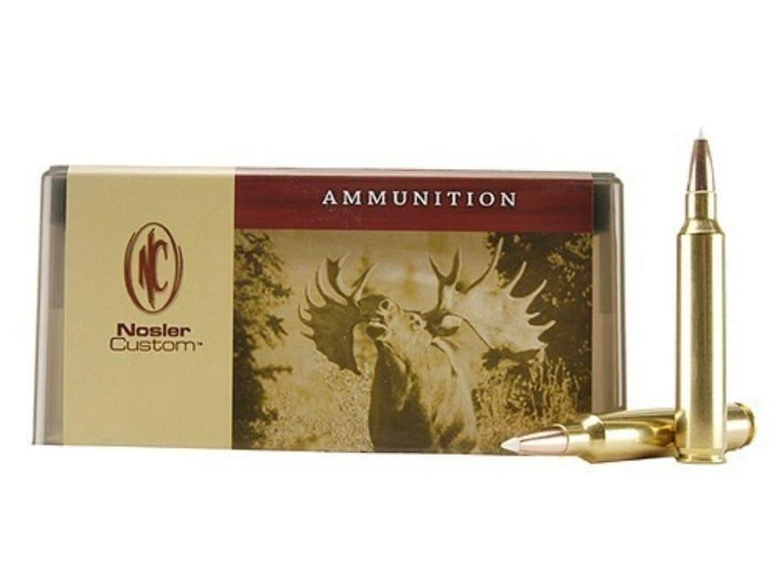 Nosler Custom Ammunition 300 Remington Ultra Magnum 180 Grain AccuBond Spitzer Box of 20