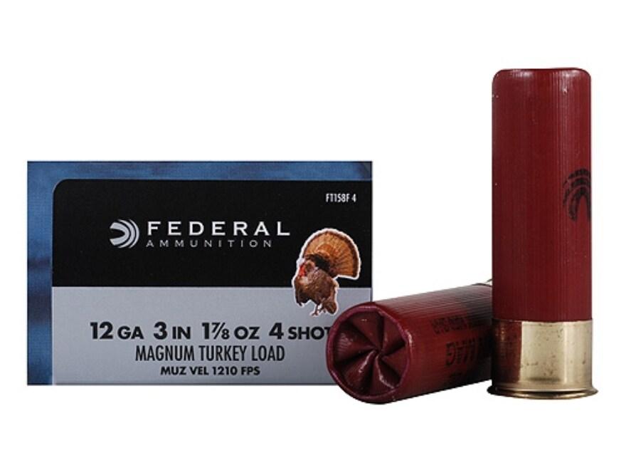 "Federal Strut-Shok Turkey Ammunition 12 Gauge 3"" 1-7/8 oz Buffered #4 Shot"