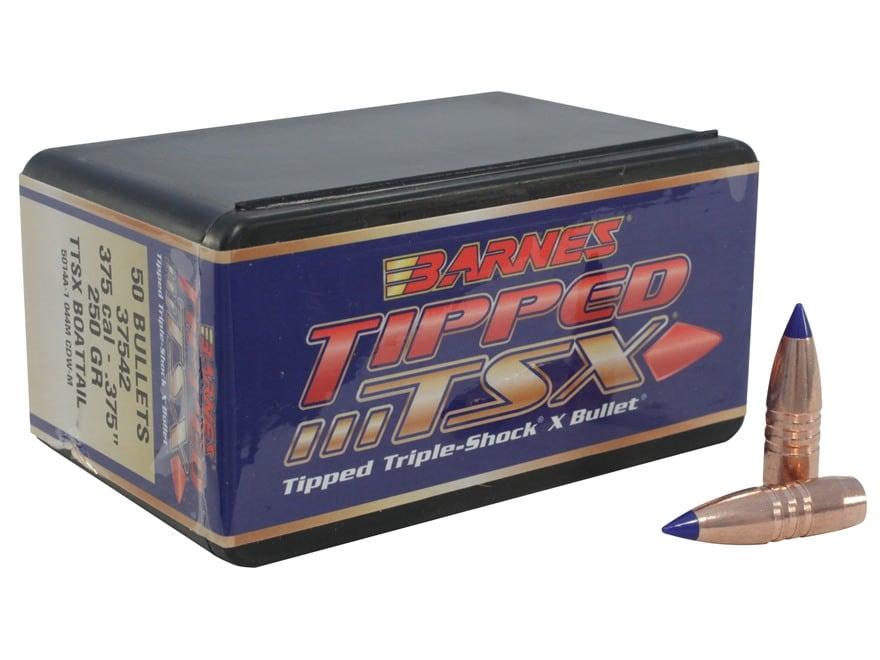 Barnes Tipped Triple-Shock X (TTSX) Bullets 375 Caliber (375 Diameter) 250 Grain Spitze...