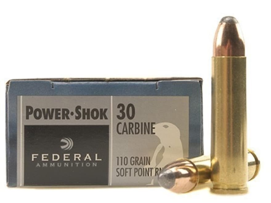 Federal Power-Shok Ammunition 30 Carbine 110 Grain Soft Point Box of 20