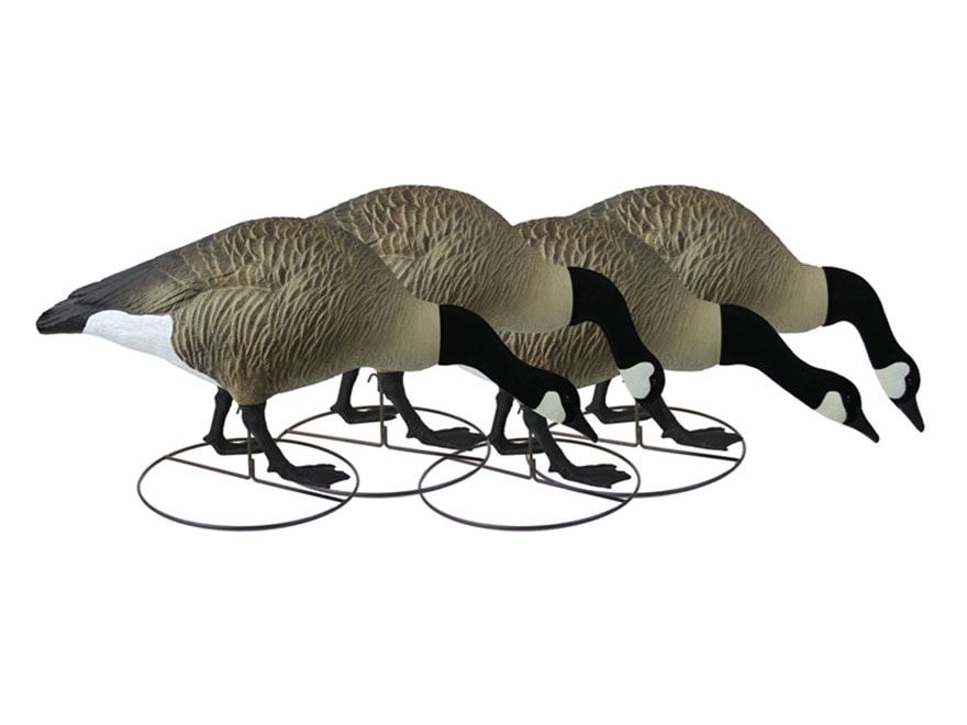 Higdon GIANT TruFeeder Full Body Canada Goose Decoy Polymer Pack of 4