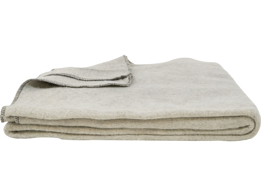 Military Surplus Belgium Disaster Blanket Grade 2 Wool Blend Gray
