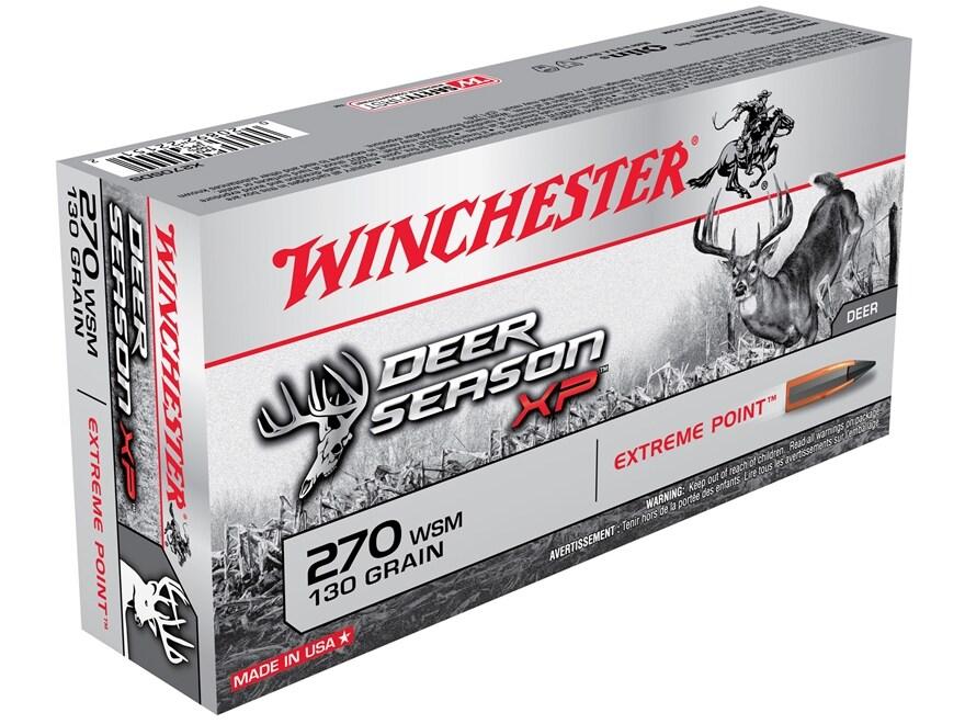 Winchester Deer Season XP Ammunition 270 Winchester Short Magnum (WSM) 130 Grain Extrem...